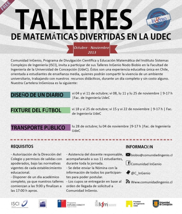 TALLERES INGENIO UDEC (OCT-NOV)