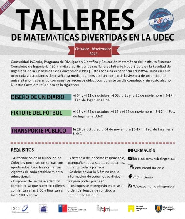 TALLERES INGENIO UDEC (OCT-NOV)